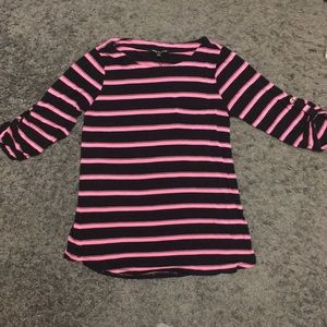 Women's Cable & Gauge 3/4 Sleeve Striped Shirt